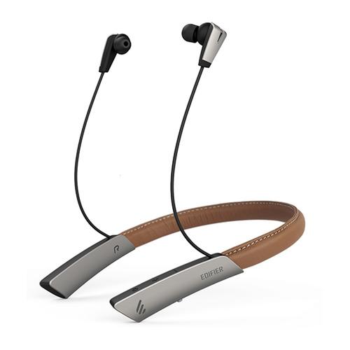 Гарнитура EDIFIER W380NB, Bluetooth, вкладыши, черный/коричневый