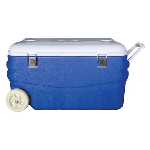 Автохолодильник АРКТИКА 2000-100, 100л, синий и белый термоконтейнер арктика 2000 100 100l aquamarine