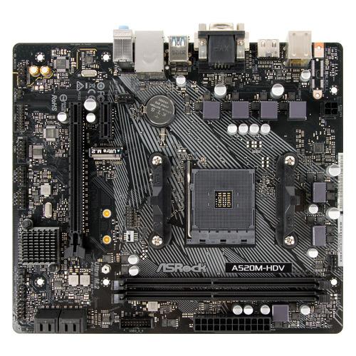 Материнская плата ASROCK A520M-HDV, SocketAM4, AMD A520, mATX, Ret материнская плата asrock fm2a68m dg3 socket fm2 amd a68h matx ret