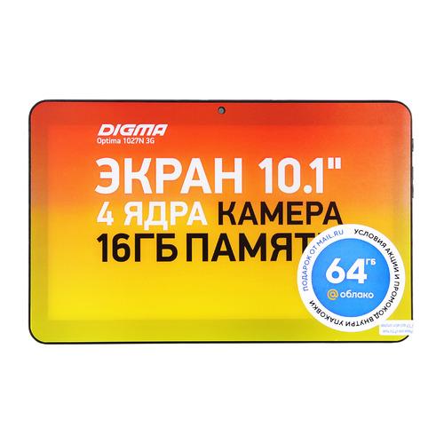 Фото - Планшет Digma Optima 1027N 3G, 1GB, 16GB, 3G, Android 10.0 Go черный планшет digma optima 1026n tt1192pg spreadtrum sc7731g 1 3 1gb 16gb 10 1 1024x600 tn 3g gps 2mp 0 3mp android 7 0 black