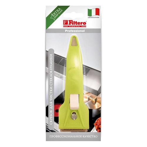 Скребок FILTERO PRO 206, для стеклокерамики, 52г [арт.206]