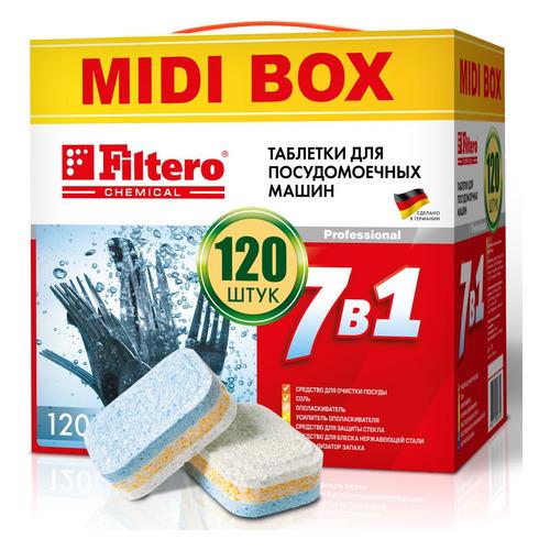 Таблетки Filtero (упак.:120шт) (710) для посудомоечных машин таблетки для посудомоечных машин somat classic 120шт