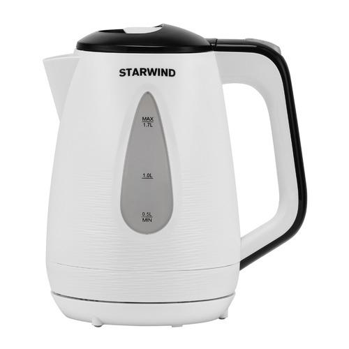 Фото - Чайник электрический STARWIND SKP3213, 2200Вт, белый и черный чайник электрический starwind skg2213 2200вт зеленый и черный