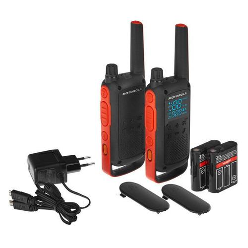 Комплект раций Motorola Talkabout T82 16кан. до 10км компл.:2шт аккум. черный/красный (MT201)
