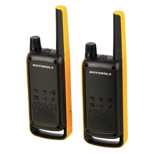 Комплект раций Motorola Talkabout T82 Extreme 16кан. до 10км компл.:2шт аккум. черный/оранжевый (MT1
