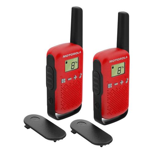 Комплект раций Motorola Talkabout T42 16кан. до 4км компл.:2шт AAA красный/черный (MT199)