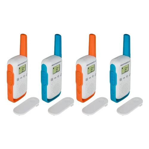 Комплект раций Motorola Talkabout T42 Quad 16кан. до 4км компл.:4шт AAA белый/оранжевый/голубой (MT2
