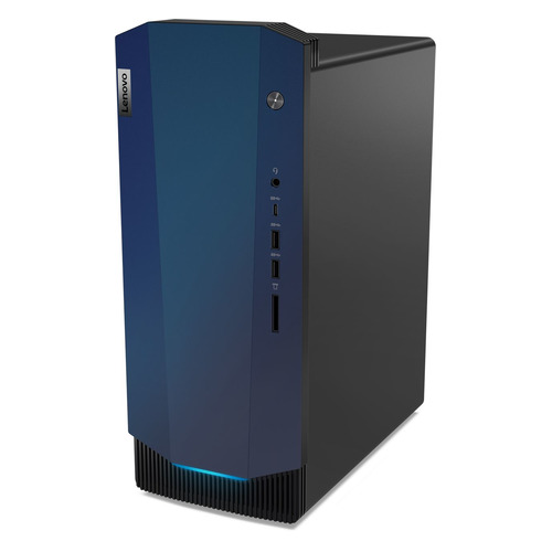 Компьютер LENOVO IdeaCentre G5 14IMB05, Intel Core i5 10400, DDR4 8ГБ, 1000ГБ, 256ГБ(SSD), NVIDIA GeForce GTX 1650 Super - 4096 Мб, CR, noOS, черный [90n9009nrs]
