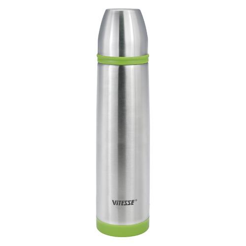 Термос VITESSE VS-2632, 1.0л, стальной/ зеленый