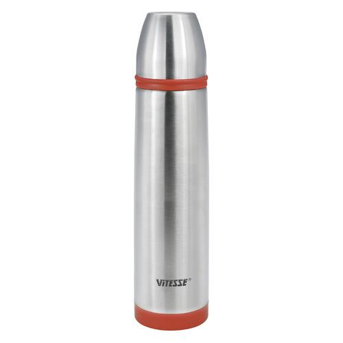 Термос VITESSE VS-2632, 1.0л, стальной/ красный
