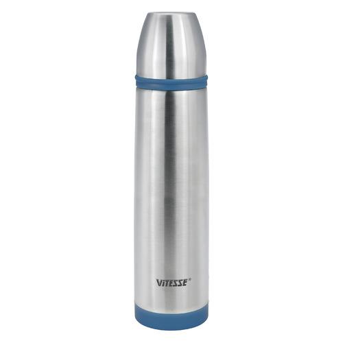 Термос VITESSE VS-2632, 1.0л, стальной/ синий