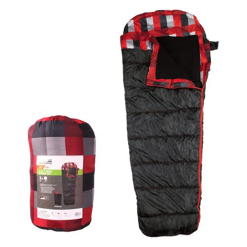Мешок спальный AceCamp Mesa Hybrid прав. дл.:218см черный/красный (3973)