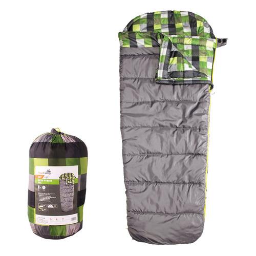Мешок спальный AceCamp Mesa Hybrid прав. дл.:218см серый/зеленый (3971)