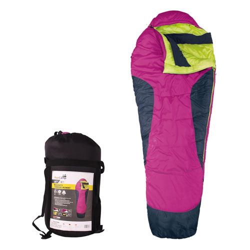 Мешок спальный AceCamp Terrain Mummy Women`s прав. дл.:213см розовый/черный (3976)