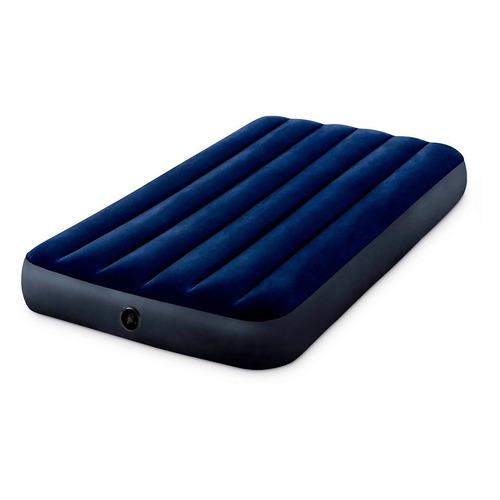 Фото - Матрас надувной INTEX Classic Downy Airbed Fiber, 191х99 мм, высота 25мм [64757] надувной матрас intex mid rice airbed 64116 светло темно серый