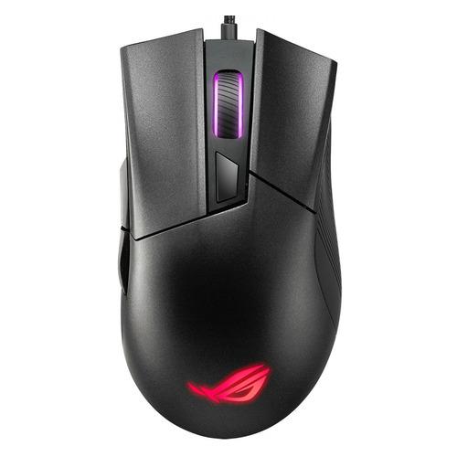 Мышь ASUS ROG Gladius II Core, игровая, оптическая, проводная, USB, черный [90mp01d0-b0ua00] мышь проводная asus p507 rog gladius ii core чёрный usb