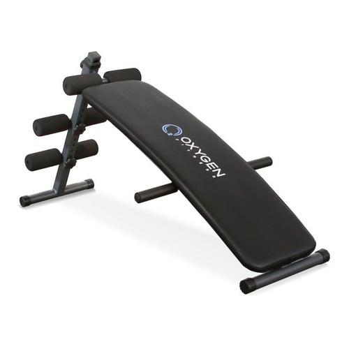 Скамья для пресса OXYGEN Fitness Everett, черный скамья для пресса sport elit sb 1238 01