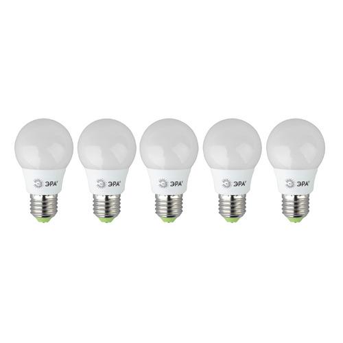 Фото - Упаковка ламп LED ЭРА E27, груша, 6Вт, 4000К, белый нейтральный, ECO LED A55-6W-840-E27, 5 шт. [б0028007] упаковка ламп led эра e14 свеча 6вт 4000к белый нейтральный b35 6w 840 e14 3 шт [б0020619]