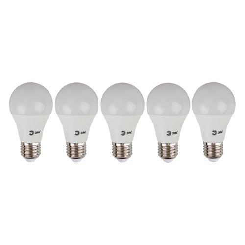 Упаковка ламп ЭРА ECO LED A60-12W-827-E27, 12Вт, 960lm, 25000ч, 2700К, E27, 5 шт. [б0030026]
