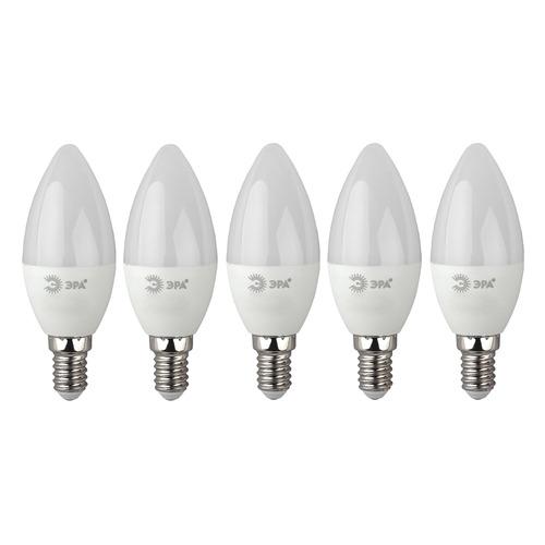 Фото - Упаковка ламп LED ЭРА E14, свеча, 10Вт, 4000К, белый нейтральный, ECO LED B35-10W-840-E14, 5 шт. [б0032963] упаковка ламп led эра e14 свеча 6вт 4000к белый нейтральный b35 6w 840 e14 3 шт [б0020619]