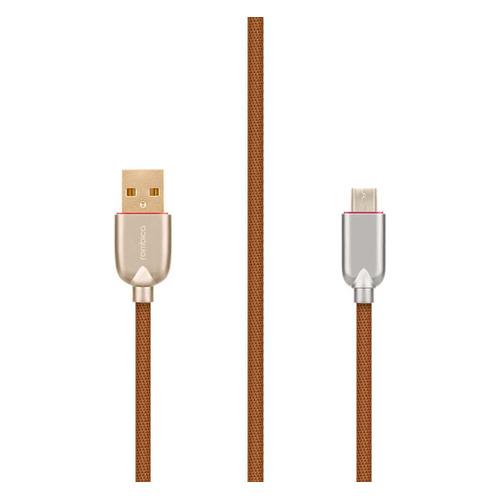 Фото - Кабель ROMBICA Rombica Digital AB-05, micro USB B (m), USB A(m), 1м, коричневый [cb-ab05] кабель rombica digital electron m brown usb micro usb нейлоновая оплетка 1 2м коричневый