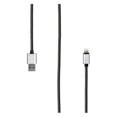 Кабель ROMBICA Rombica Digital IL-01, Lightning (m), USB A(m), 1м, MFI, зеленый [cb-il01] недорого
