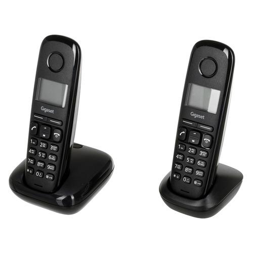 Радиотелефон GIGASET A170 DUO RUS, черный [l36852-h2802-s301]