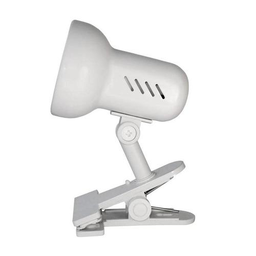 Светильник настольный CAMELION H-035 С01, на прищепке, 60Вт, белый [7198]