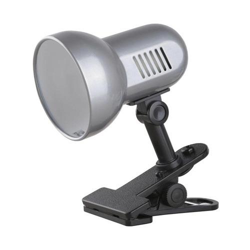 Светильник настольный CAMELION H-035 С03, на прищепке, 60Вт, серебристый [8274]