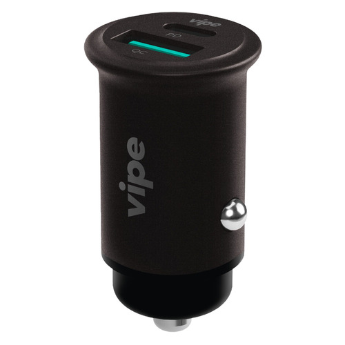Автомобильное зарядное устройство Vipe, USB + USB type-C, 3A, серый аксессуар vipe usb type grey vptypeccblcopgrey
