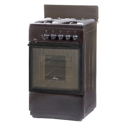 Газовая плита FLAMA FG 24027 B, газовая духовка, без крышки, коричневый