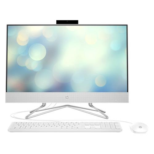 Моноблок HP 24-df0096ur, 23.8, Intel Pentium Silver J5040, 4ГБ, 128ГБ SSD, Intel UHD Graphics 605, Free DOS 3.0, белый [2k4w7ea] моноблок hp 22 c0011ur white 4he40ea intel pentium silver j5005 1 5 ghz 8192mb 1tb uhd graphics 605 wi fi bluetooth cam 21 5 1920x1080 dos
