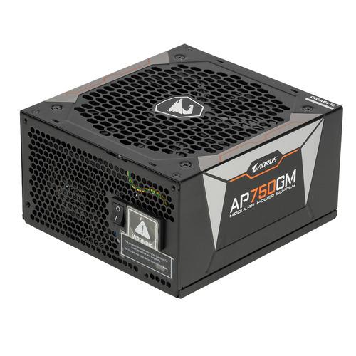 Блок питания GIGABYTE AORUS GP-AP750GM, 750Вт, 135мм, черный, retail