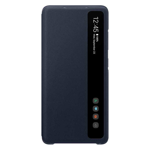 Чехол (флип-кейс) SAMSUNG Smart Clear View Cover, для Samsung Galaxy S20 FE, темно-синий [ef-zg780cnegru]