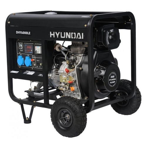 Дизельный генератор HYUNDAI DHY 6000LE, 230, 5.5кВт дизельэлектростанция hyundai dhy 6000le 5 5ква 4 4квт 220 в 7 ч дизель