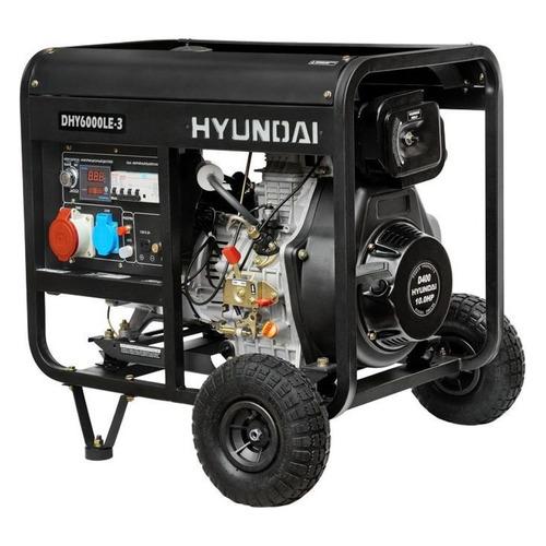 Дизельный генератор HYUNDAI DHY 6000LE-3, 380/220/12, 5.5кВт дизельный генератор hyundai dhy 8500se 3 380 220 12 в 7 2квт