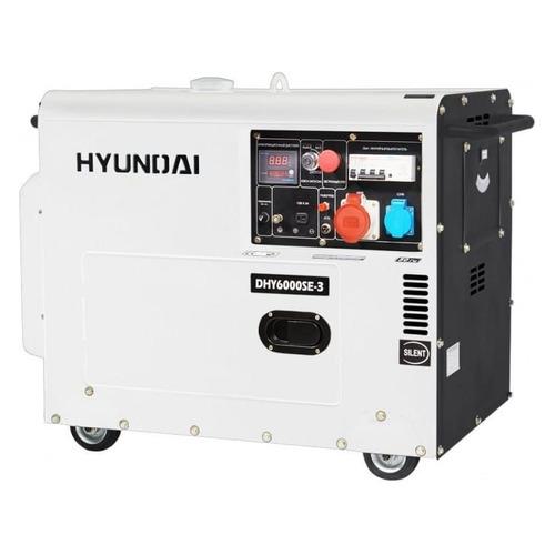 Дизельный генератор HYUNDAI DHY 6000SE-3, 380/220/12, 5.5кВт дизельный генератор hyundai dhy 8500se 3 380 220 12 в 7 2квт