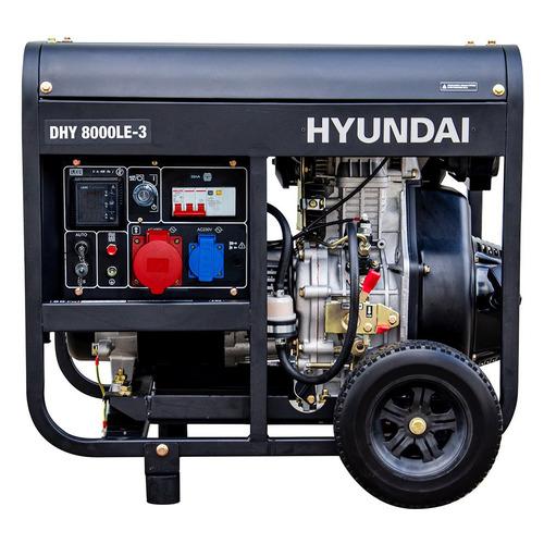 Дизельный генератор HYUNDAI DHY 8000LE-3, 380/220/12, 6.5кВт дизельный генератор hyundai dhy 8500se 3 380 220 12 в 7 2квт