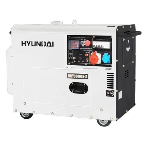 Дизельный генератор HYUNDAI DHY 8000SE-3, 380/220/12, 6.5кВт дизельный генератор hyundai dhy 8500se 3 380 220 12 в 7 2квт