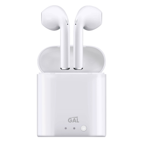 Фото - Гарнитура GAL Gal TW-2800, Bluetooth, вкладыши, белый гарнитура gal gal bh 1005 bluetooth вкладыши черный