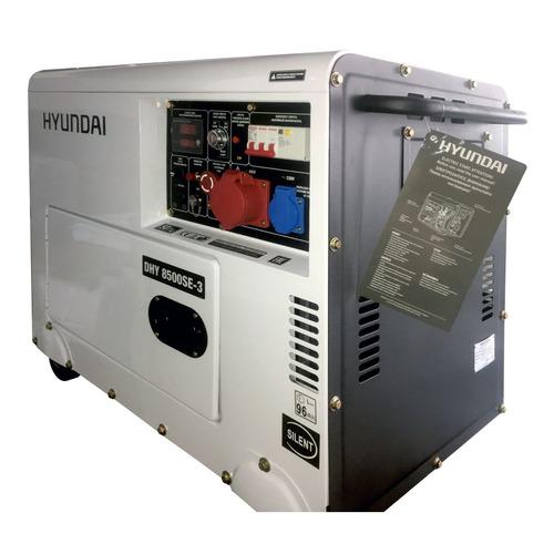Дизельный генератор HYUNDAI DHY 8500SE-3, 380/220/12, 7.2кВт дизельный генератор hyundai dhy 8500se 3 380 220 12 в 7 2квт