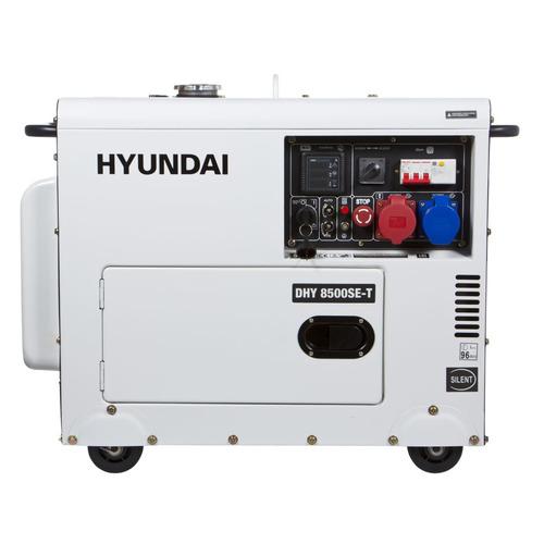 Дизельный генератор HYUNDAI DHY 8500SE-T, 380/220/12, 7.2кВт дизельный генератор hyundai dhy 8500se 3 380 220 12 в 7 2квт
