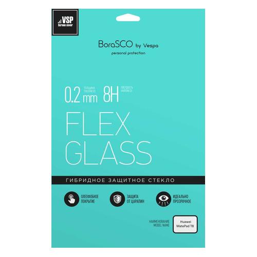 Фото - Защитное стекло BORASCO Hybrid Glass для Huawei MatePad T8, 8, 194.8 х 116.2 мм, 1 шт [39224] защитное стекло для экрана borasco hybrid glass для bq magic гибридная 1 шт [40029]