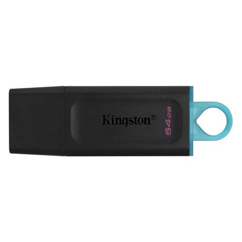 Флешка USB KINGSTON DataTraveler Exodia 64ГБ, USB3.1, черный и голубой [dtx/64gb] флешка usb kingston datatraveler g4 64гб usb3 0 белый и фиолетовый [dtig4 64gb]