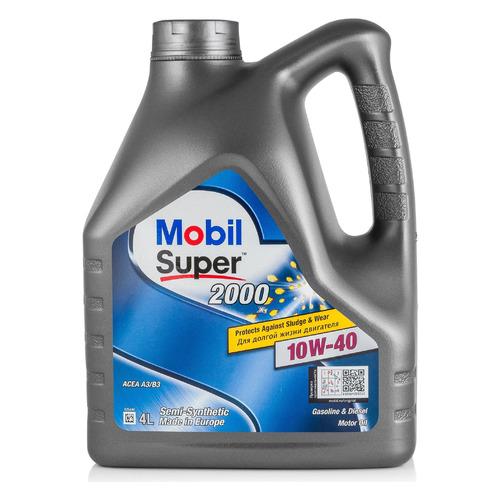 Моторное масло MOBIL Super 2000 x1 10W-40 4л. полусинтетическое [152568]