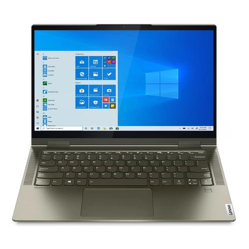Ноутбук-трансформер Lenovo Yoga 7 14ITL5, 14, IPS, Intel Core i7 1165G7, Intel Evo 2.8ГГц, 16ГБ, 1ТБ SSD, Intel Iris Xe graphics , Windows 10, 82BH007SRU, темно-зеленый ультрабук acer swift 3x sf314 510g 7734 14 ips intel core i7 1165g7 2 8ггц 16гб 1тб ssd intel iris xe max 4096 мб windows 10 nx a0yer 007 синий