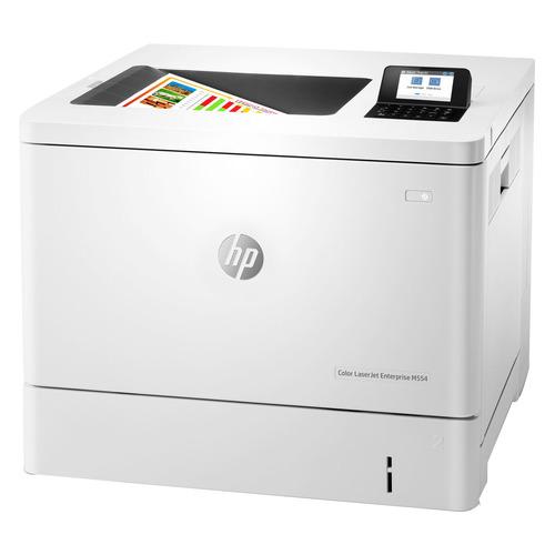 Принтер лазерный HP Color LaserJet Enterprise M554dn цветной, цвет: белый [7zu81a]