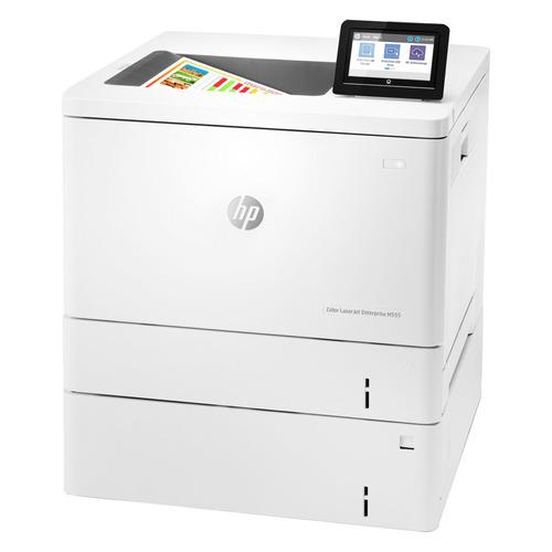 Принтер лазерный HP Color LaserJet Enterprise M555x цветной, цвет: белый [7zu79a]