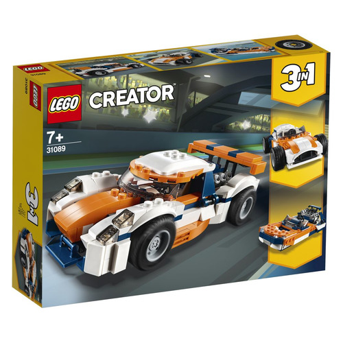 Конструктор LEGO Creator Оранжевый гоночный автомобиль, 31089