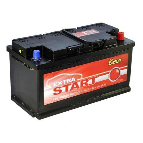 Аккумулятор автомобильный КАТОД EXTRA START Extra Start 100Ач 800A [6ст-100n r+ (l5)]